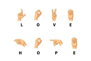 Love, hope and peace words