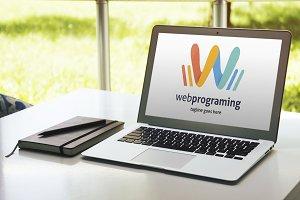 Web Programing (Letter W) Logo