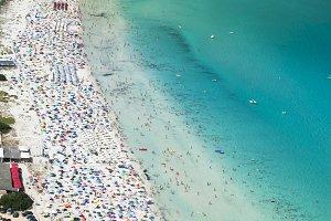 La Cinta Beach, summertime