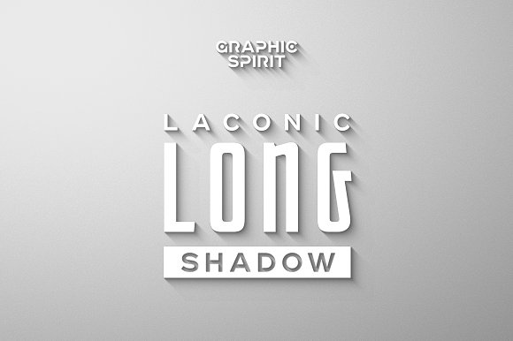 Laconic Long Shadow for Pho-Graphicriver中文最全的素材分享平台