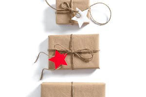 Gift boxes Star paper tag