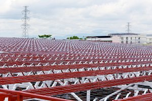 Roof steel prepare for construction