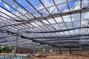 Roof construction for new factory