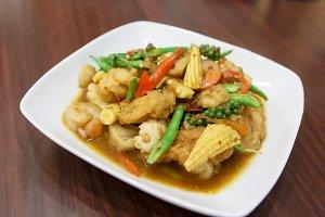 thai Fried sea food