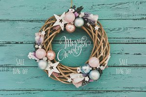 80%off Christmas Wreath Bundle 15in1
