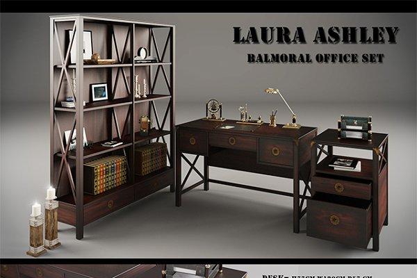 3D Furniture Models: desgiant - Laura Ashley Balmoral Office 3dModel