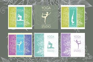Yoga studio banners template