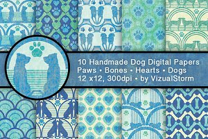 Dog Patterns Pet Silhouette Designs