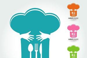Hug and Love Cooking Logo