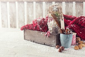 Christmas concept with decorations