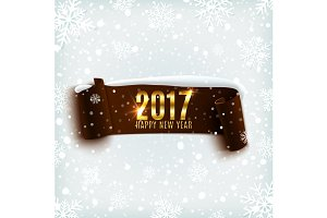 Happy new Year 2017 banner.