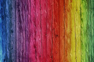 Rainbow Wood Background Color