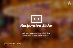 Responsive Slider - Muse Widget