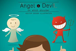 Shoulder devil and angel