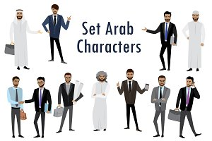 Set of Arab Businessman, Characters