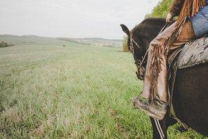 leg cowboy horse