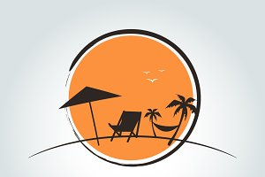summer logo on white background