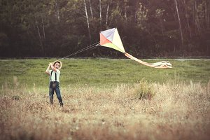 Child with a kite