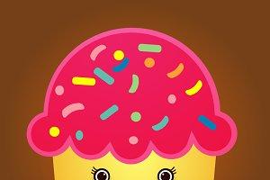 illustration of cute Cupcake