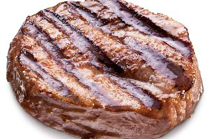 Beef steak isolated on a white