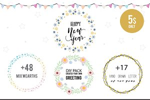 Mix DIY : NEW YEAR HAND DRAWN VECTOR