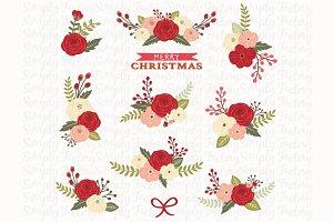 Christmas Floral Set