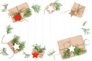 Wrapped gifts Christmas decoration