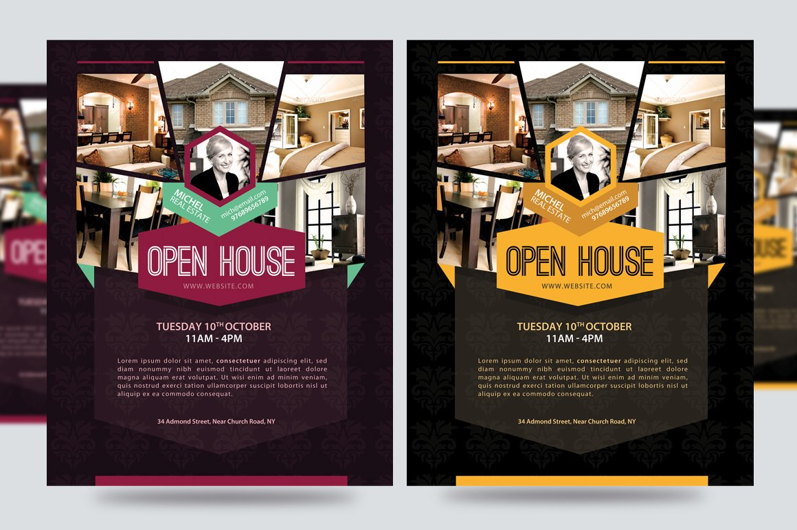 Open house promotion flyer v1 flyer templates creative for Free mortgage flyer templates