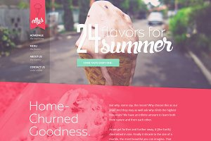 Elly's Ice Cream PSD Template (2015)