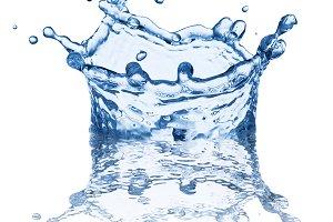 Splash of water in the shape
