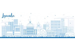 Outline Luanda Skyline