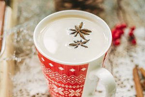 Christmas milk tea