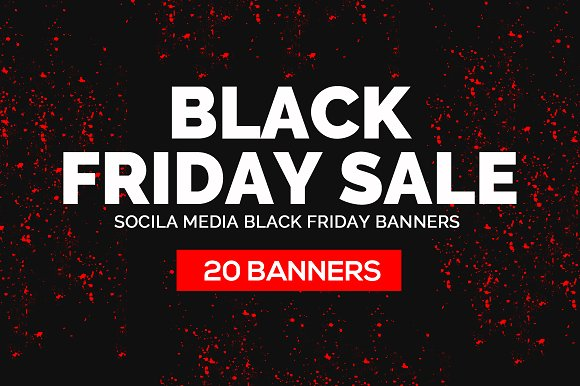 20 Black Friday Banners