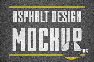 Asphalt texture design mockup