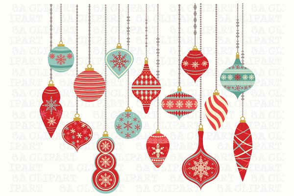 Decoration Clipart Chirstmas - Christmas Decorations Clipart - Free  Transparent PNG Clipart Images Download
