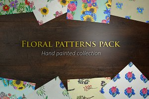 24 hand painted seamless patterns 5