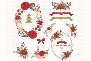 Floral Christmas Design Set