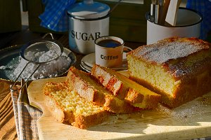 Homemade Yogurt Sponge Cake