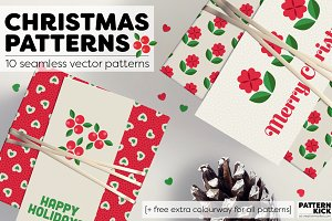 Christmas Patterns + FREE colourway