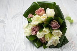 Amarillys flowers bridal bouquet