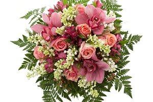 Cymbidium orchids bridal bouquet