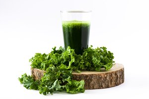 Healthy kale smoothie