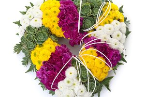 Heart shape floral tribute