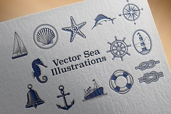 Sea & Nautical Vector Illustrations