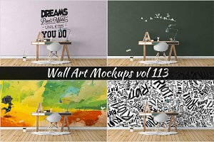 Wall Mockup - Sticker Mockup Vol 113