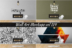 Wall Mockup - Sticker Mockup Vol 114