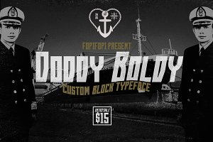 Doddy Boldy Typeface