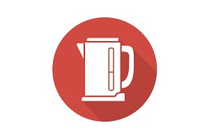 Electric kettle icon. Vector