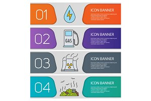 Eco banner templates set. Vector