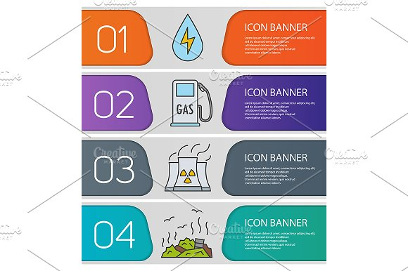 Eco banner templates set. Vector - Product Mockups